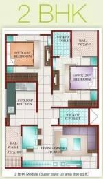 950 sqft, 2 bhk Apartment in Prashant Karuna Sagar Palasia, Indore at Rs. 20.0000 Lacs
