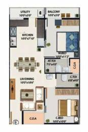928 sqft, 2 bhk Apartment in Vaishnavi Prakash Hibiscus Narayanapura on Hennur Main Road, Bangalore at Rs. 46.0000 Lacs