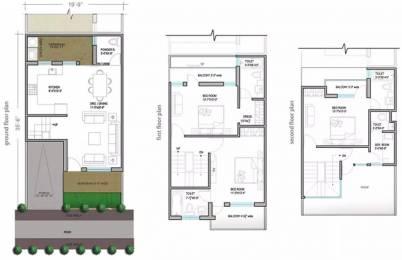 1742 sqft, 3 bhk Villa in Paramount Golfforeste Villas Zeta, Greater Noida at Rs. 13000