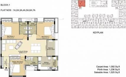 1525 sqft, 3 bhk Apartment in Arihant Esta The One Mogappair, Chennai at Rs. 30000