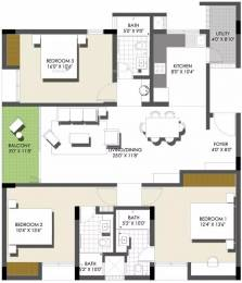 1665 sqft, 3 bhk Apartment in Spectra Raintree Banaswadi, Bangalore at Rs. 1.4500 Cr