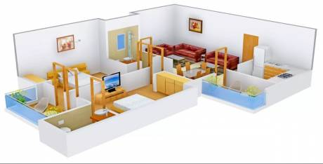 1390 sqft, 2 bhk Apartment in Pioneer Acme Heights Extn II Sector 117 Mohali, Mohali at Rs. 15000