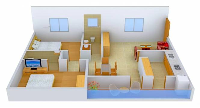 1120 sqft, 2 bhk Apartment in Satya Kalyans Patra Technopolis NH 5, Visakhapatnam at Rs. 30.2500 Lacs