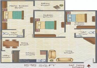 1595 sqft, 3 bhk Apartment in 5 Elements Saketh HIllside Banashankari, Bangalore at Rs. 16500