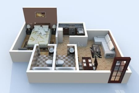 500 sqft, 1 bhk Apartment in Builder Project Mulund West, Mumbai at Rs. 72.0000 Lacs