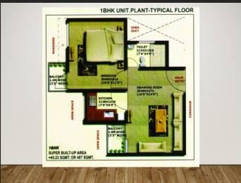 497 sqft, 1 bhk Apartment in  Heights Naini, Allahabad at Rs. 14.9100 Lacs