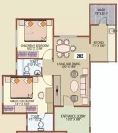 925 sqft, 2 bhk Apartment in SDPL Ashoka Enclave Vayusena Nagar, Nagpur at Rs. 10000