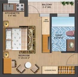435 sqft, 1 bhk Apartment in Omaxe Fullmoon Vrindavan, Mathura at Rs. 5000