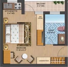 435 sqft, 1 bhk Apartment in Omaxe Eternity Vrindavan, Mathura at Rs. 5000