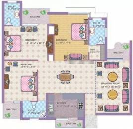 1612 sqft, 3 bhk Apartment in Motia Royale Estate Dashmesh Nagar, Zirakpur at Rs. 38.0000 Lacs
