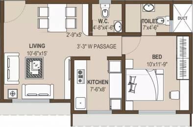 694 sqft, 1 bhk Apartment in Shree Krishna Eastern Winds Kurla, Mumbai at Rs. 98.0000 Lacs