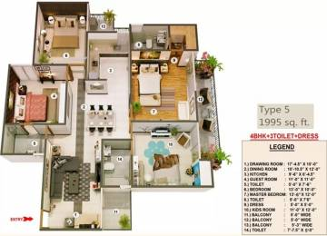 1995 sqft, 4 bhk Apartment in Proview Officer City Raj Nagar Extension, Ghaziabad at Rs. 59.8500 Lacs
