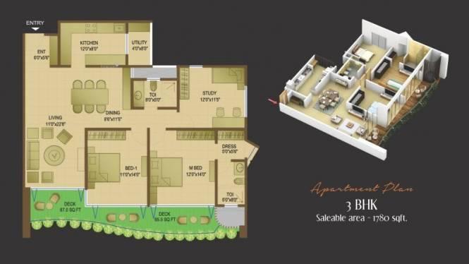 1044 sqft, 2 bhk Apartment in Avinash Magneto Signature Homes II Jivan Vihar, Raipur at Rs. 45.0000 Lacs
