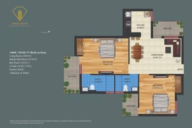 750 sqft, 2 bhk Apartment in Builder Orrish Height Ujwa, Delhi at Rs. 31.1250 Lacs