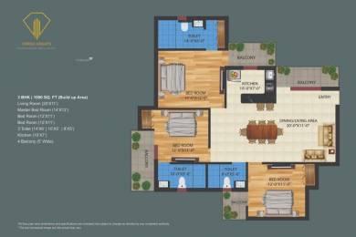 1000 sqft, 3 bhk Apartment in Builder Orrish Height Ujwa, Delhi at Rs. 41.5000 Lacs