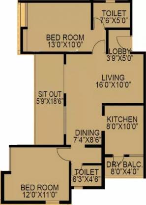 1000 sqft, 2 bhk Apartment in F5 Epic Wagholi, Pune at Rs. 0