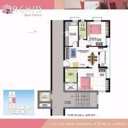 1125 sqft, 2 bhk Apartment in Trishna Orchid Patia, Bhubaneswar at Rs. 41.0000 Lacs