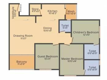 1865 sqft, 3 bhk Apartment in Shrijibapa Floris 41 Jodhpur Village, Ahmedabad at Rs. 1.2100 Cr