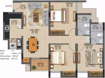 1467 sqft, 3 bhk Apartment in Casagrand Supremus Thalambur, Chennai at Rs. 53.5000 Lacs