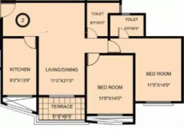 1175 sqft, 2 bhk Apartment in Karia Konark Exotica Wagholi, Pune at Rs. 17000