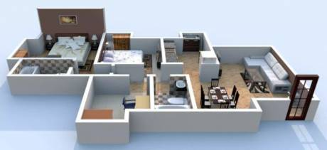 1146 sqft, 3 bhk Apartment in Dosti Planet North Shil Phata, Mumbai at Rs. 1.1000 Cr