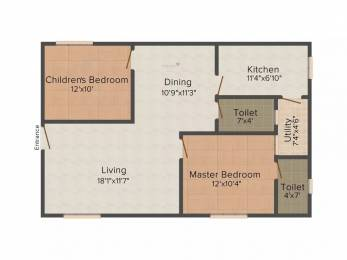 1060 sqft, 2 bhk Apartment in Amma Galaxy City Vasantha Kurmannapalem, Visakhapatnam at Rs. 30.0000 Lacs
