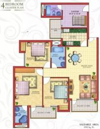 1950 sqft, 4 bhk Apartment in Cosmos Golden Heights Crossing Republik, Ghaziabad at Rs. 60.0000 Lacs