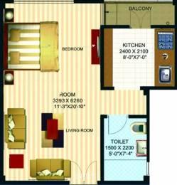 400 sqft, 1 bhk Apartment in Anant Raj Aashray Shahjahanpur, Neemrana at Rs. 10.0000 Lacs