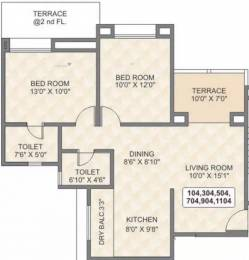 1116 sqft, 2 bhk Apartment in Tyagi Uttam Townscapes Elite Vishrantwadi, Pune at Rs. 24000