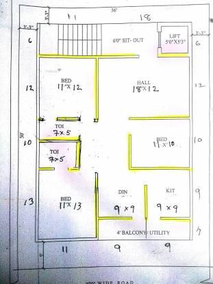 1550 sqft, 3 bhk Apartment in Builder Sampath Srinivasam Pothinamallayya Palem, Visakhapatnam at Rs. 53.5000 Lacs