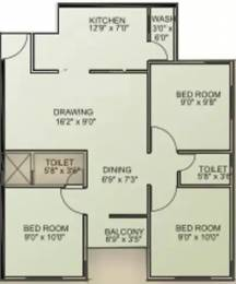 815 sqft, 3 bhk Apartment in Santosh Shaan 3 Vatva, Ahmedabad at Rs. 2.0000 Lacs