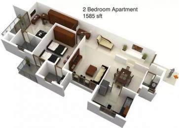 1585 sqft, 2 bhk Apartment in Mohtisham Canopy Urwa, Mangalore at Rs. 71.3250 Lacs