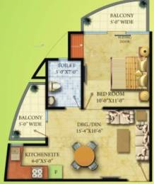 610 sqft, 1 bhk Apartment in Radicon Vedantam Sector 16C Noida Extension, Greater Noida at Rs. 24.0000 Lacs