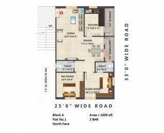 1070 sqft, 2 bhk Apartment in Builder Project Gandi Maisamma X Road, Hyderabad at Rs. 38.5200 Lacs