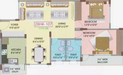 1174 sqft, 2 bhk Apartment in Upkar Oakland Attibele, Bangalore at Rs. 37.6800 Lacs