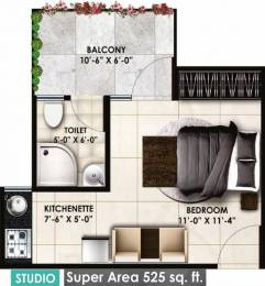 525 sqft, 1 bhk Apartment in Delhi Delhi Gate Chhawla, Delhi at Rs. 19.6800 Lacs