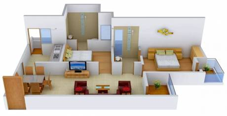 990 sqft, 2 bhk Apartment in Logix Blossom County Sector 137, Noida at Rs. 16000