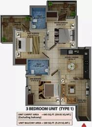 838 sqft, 3 bhk Apartment in Amolik Heights Sector 88, Faridabad at Rs. 11500