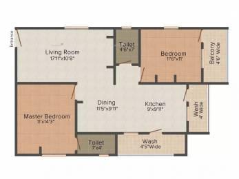 1230 sqft, 2 bhk Apartment in My Jewel Crown Manikonda, Hyderabad at Rs. 23000