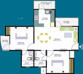 1100 sqft, 2 bhk Apartment in Designarch E Homes UPSIDC Surajpur Site, Greater Noida at Rs. 32.0000 Lacs