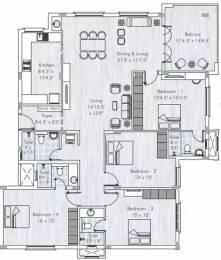 2484 sqft, 4 bhk Apartment in Appaswamy Mandarina Kotturpuram, Chennai at Rs. 4.5000 Cr
