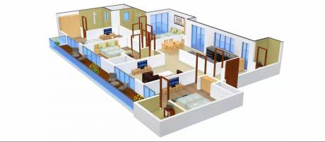 2430 sqft, 4 bhk Apartment in SG Homes Sector 4 Vasundhara, Ghaziabad at Rs. 25000