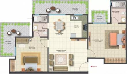 1190 sqft, 2 bhk Apartment in Saya Zenith Ahinsa Khand 2, Ghaziabad at Rs. 22000