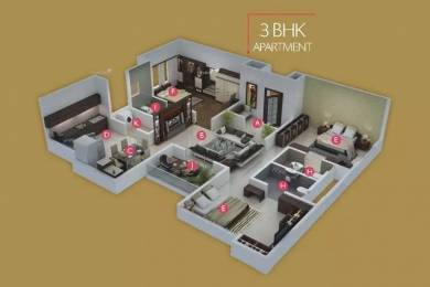1694 sqft, 3 bhk Apartment in Pristine Royale Aundh, Pune at Rs. 30000