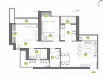 705 sqft, 2 bhk Apartment in Shapoorji Pallonji Orion Northern Lights Thane West, Mumbai at Rs. 1.3200 Cr