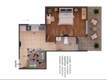 450 sqft, 1 bhk Apartment in Builder ROF Amaltas Sector 92, Gurgaon at Rs. 13.0000 Lacs