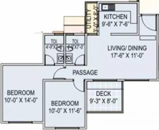 975 sqft, 2 bhk Apartment in Runwal Euphoria Kondhwa, Pune at Rs. 14000
