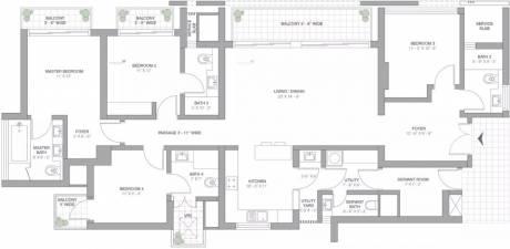 2625 sqft, 4 bhk Apartment in TATA Primanti Sector 72, Gurgaon at Rs. 70000
