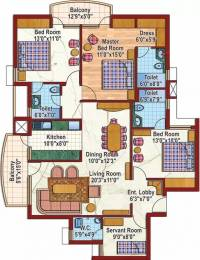 1765 sqft, 3 bhk Apartment in Purvanchal Silver City Sector 93, Noida at Rs. 1.3000 Cr