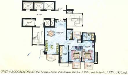 1436 sqft, 2 bhk Apartment in DLF Richmond Park Sector 27, Gurgaon at Rs. 1.7500 Cr